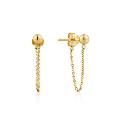 Ania Haie Modern Chain Stud Earrings E002-06G
