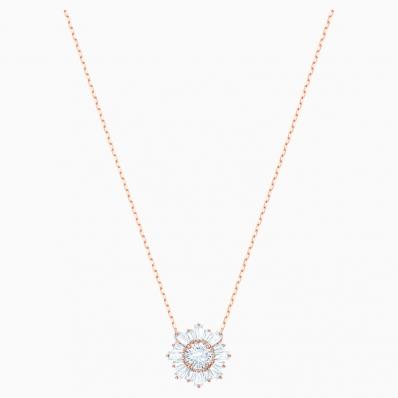 Swarovski Sunshine Crystal Pendant, Rose Gold Plating  5451376