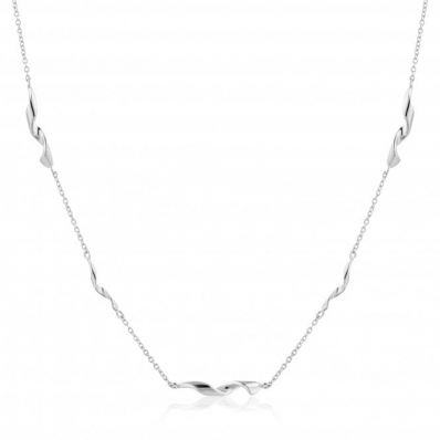Ania Haie Helix Necklace. Silver Rhodium Plated  N012-02H