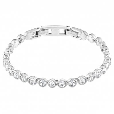 Swarovski Crystal Set Tennis Bracelet. White Rhodium Plated   1791305