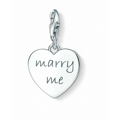 Thomas Sabo Silver 'MARRY ME' Heart Charm 1064-01-12