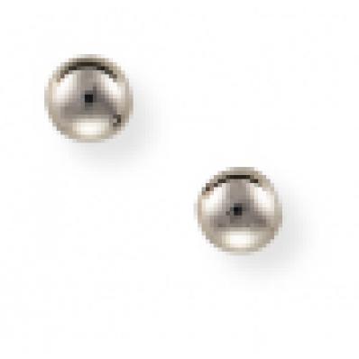 ball stud earrings 9ct White Gold 4mm Ball Stud Earrings