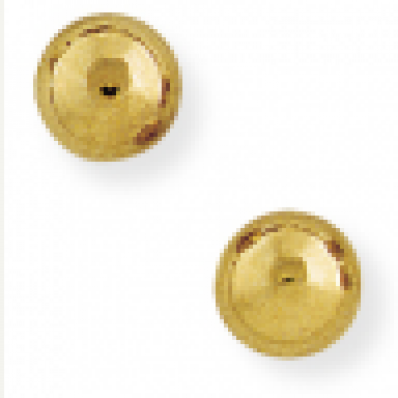 ball stud earrings 9ct Yellow Gold 6mm Ball Stud Earrings