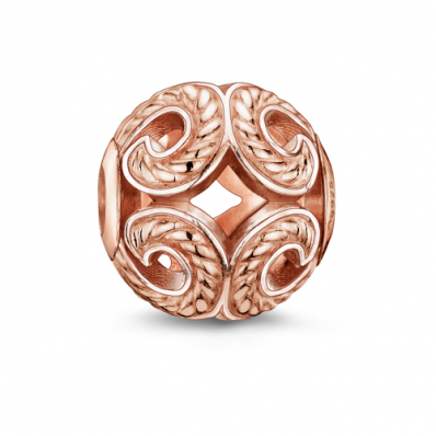 Thomas Sabo rose gold plated wave bead K0009-415-12
