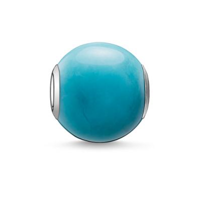 Thomas Sabo howlite turquoisesilver bead K0035-589-17
