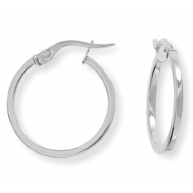 round hoop earrings 9ct White Gold Round Hoop Earrings