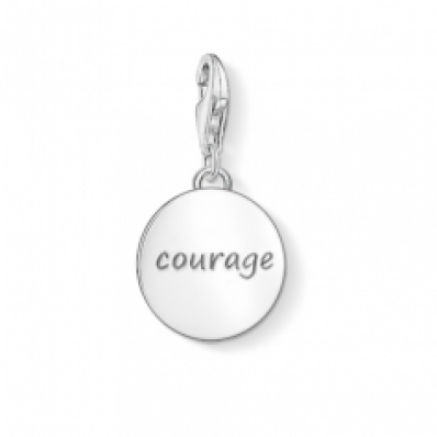 ​Thomas Sabo Silver 'Courage' Charm 1298-001-12