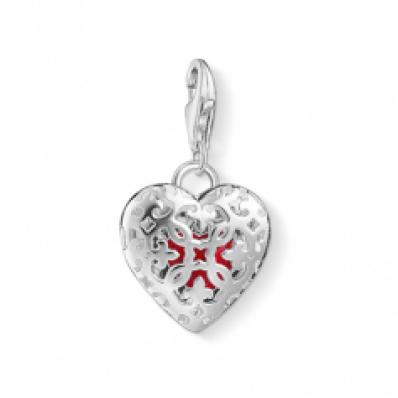 Thomas Sabo Silver & Red Locket Heart Charm 1313-007-10