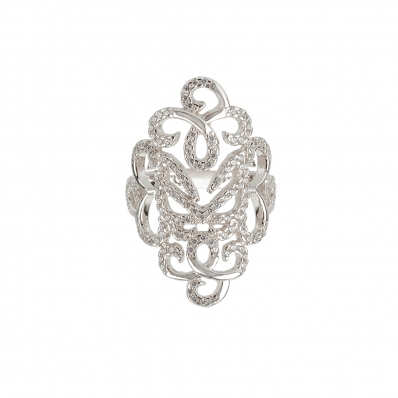 ​​Vamp London Silver Hidden Mask Ring HMR041-SI-C