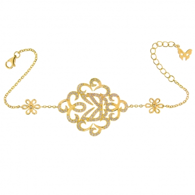 ​Vamp London Yellow Gold Plated Hidden Mask Bracelet HMB040-YG-C