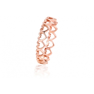 Clogau 9ct Rose Heart Affinity Stacking Ring EH07