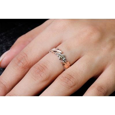 Clogau Silver & 9ct Rose Gold Royal Oak Ring 3SOLR