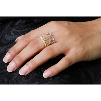 Clogau 9ct Rose Gold Heart Affinity Stacking Ring 3SEH06