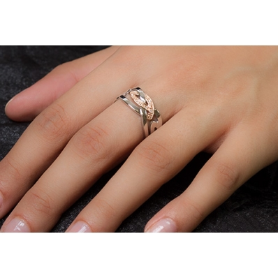 Clogau Silver & 9ct Rose Gold Eternal Love Ring 3SELDR