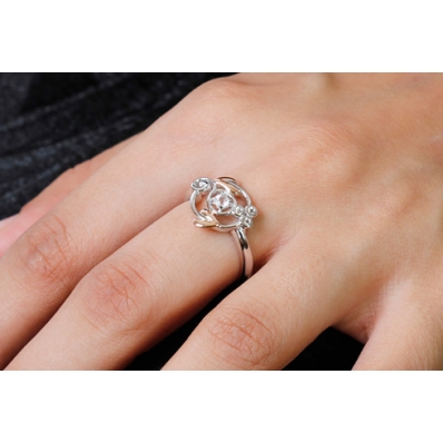 Clogau Silver & 9ct Rose Gold Topaz Origin Ring 3SENGTOL1