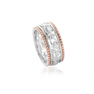 Clogau Silver & 9ct Rose Gold Tree of Life Ring 3STLRR4