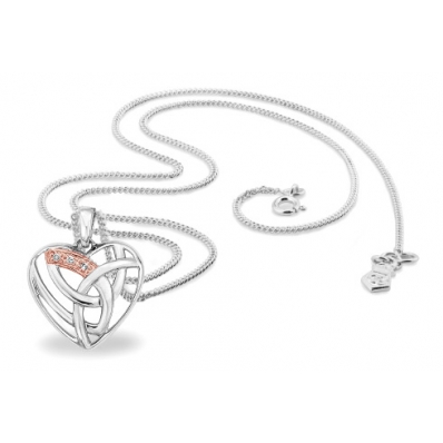 Clogau Silver & 9ct Rose Gold Diamond Eternal Necklace 3SELP