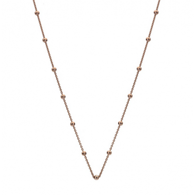 Emozioni Rose Gold Plated Cable Ball Chain 24'' CH051