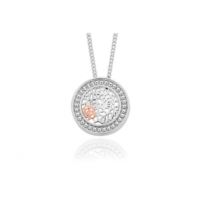 Clogau Sterling Silver and Rose Gold Royal Roses Pendant 3SRORCP