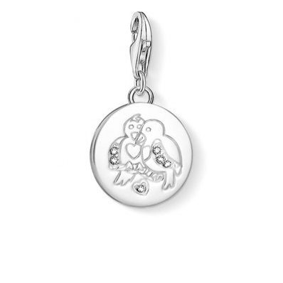 ​Thomas Sabo Turtle Doves Silver Charm 1388-051-14