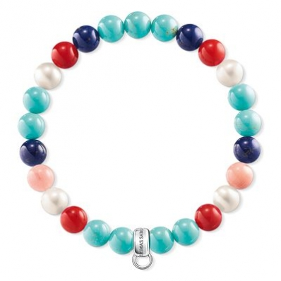​Thomas Sabo Coral, Turquoise and MOP Bracelet X0214-946-7