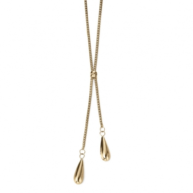 Elements Gold Double Teardrop Necklace