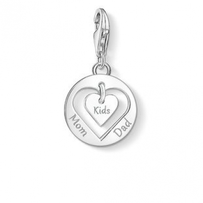 ​Thomas Sabo Charm Pendant Heart Mom, Dad, Kids 1454-001-21