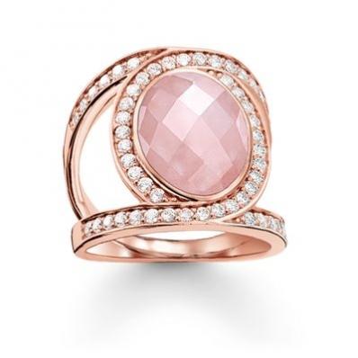 Thomas Sabo Pink Cocktail Ring Love Knot TR2015-537-9