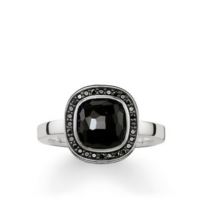 Thomas Sabo Solitaire Ring Black Cosmo TR2029-641-11