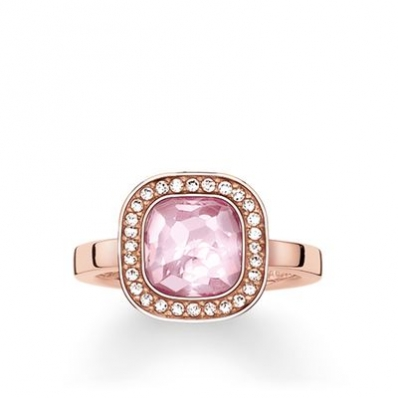 Thomas Sabo Solitaire Ring Pink Cosmo TR2029-633-9