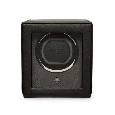 Wolf Est.1834 Cub Black Single Watch Winder with Cover 461103