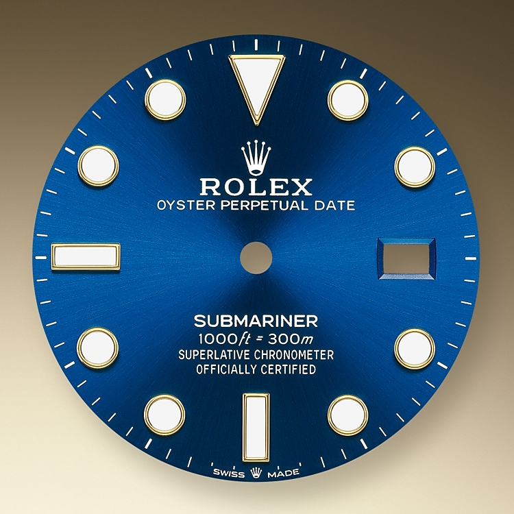 Royal blue dial
